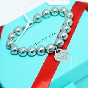 Bracciale Tiffany Sfere 10mm con Cuore Small