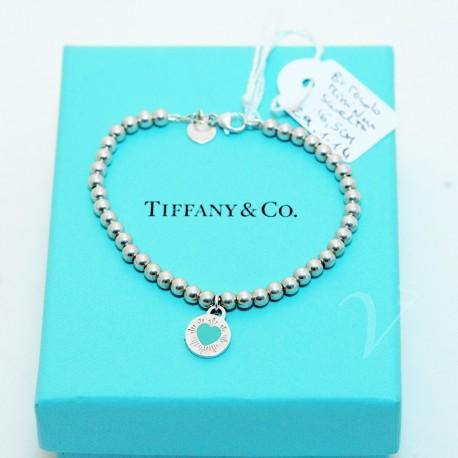 Bracciale Tiffany mini beads Tondo Smaltato