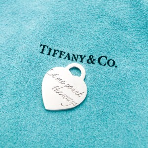 "Charm Tiffany & Co. Notes ""Let Me Count"""