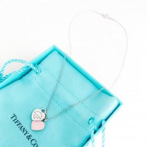 Catenina doppio cuore mini rosa
